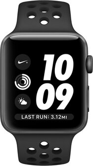 pico temporal champú  Apple Watch Series 3 Sport Nike Plus 42mm (GPS plus LTE) Grey Aluminum Case  Sport Band Black, price in Europe